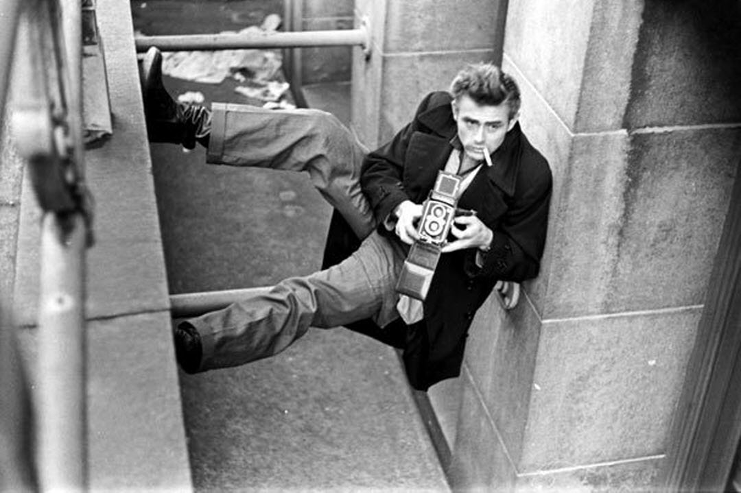 James Dean in Pea Coat