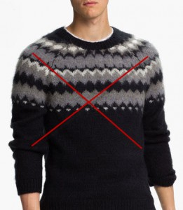 the wrong sweater